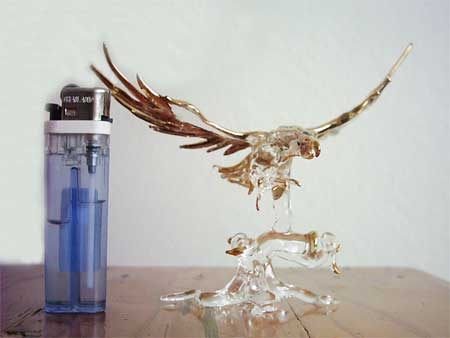 pin-glass eagles