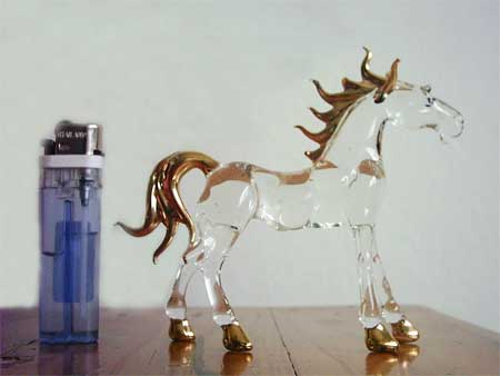 Pin-glass horse